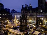 Albert Square in Manchester during the famous Christmas Markets.