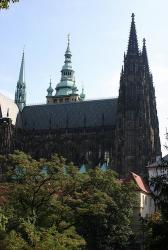 From the Royal Gardens, we walk towards the St. Vitus cathedral, which is part of the Prague Castle.