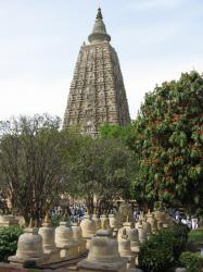 De Mahabodhi Tempel in Bodh Gaya, India